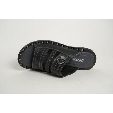 Men's Footwear Black Sandal Slippers