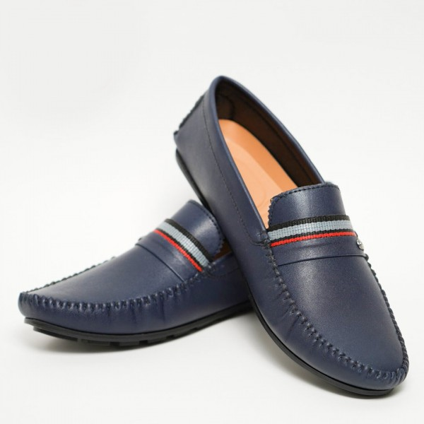 Gents Fancy Blue Loafer Shoes For Mens