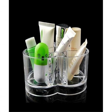 New Heart-shaped Clear Cosmetics Makeup Organizer