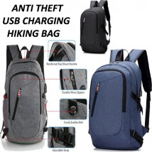 Anti Theft USB Charging Hiking Bag pack