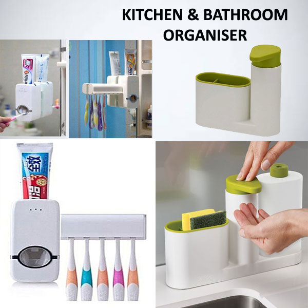 set of KITCHEN and BATHROOM ORGANISERS