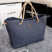 Blue Shopping Hand Bag For Women