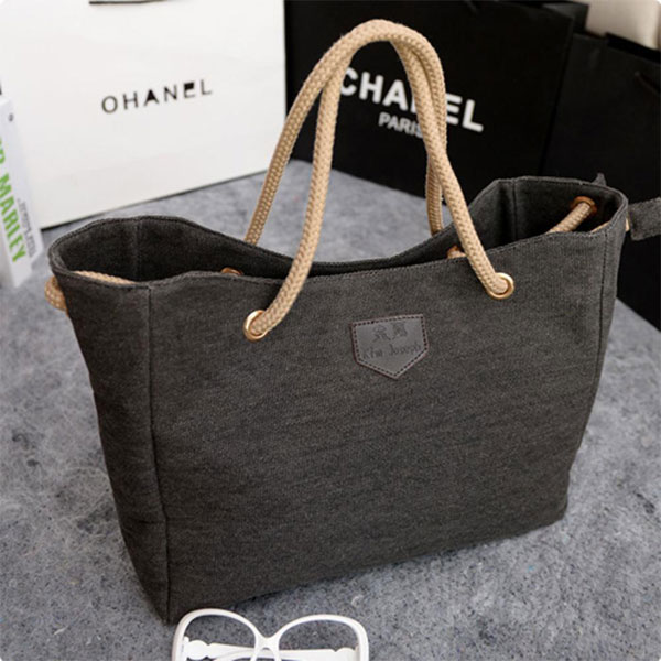 Large Black Capacity Shopping Hand Bag For Women