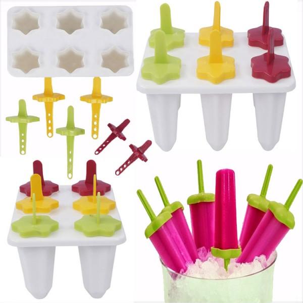 Pack of 6 Popsicle Maker Multi color Kulfi Maker Ice cream Sticks