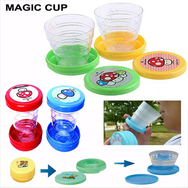 Folding Collapsible Magic Cup Set of 2