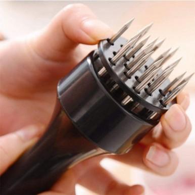 Handheld Kitchen Meat Tenderizer Hammer Loose Meat Needle Steak Tender Black