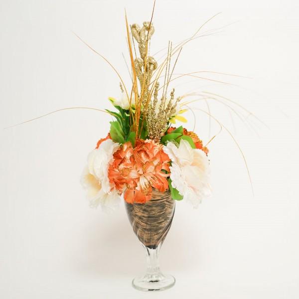 Flower Glass Vase for Decor Home Handmade Modern Flower Vases for Centerpieces Living Room Kitchen Office