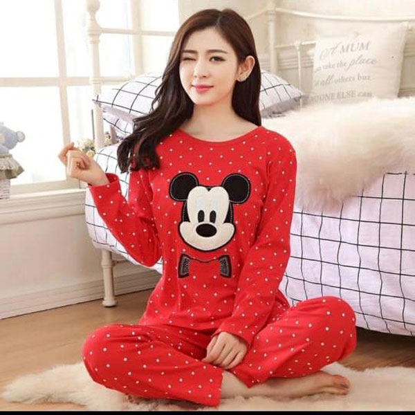 Mickey Mouse Printed  Night Suits