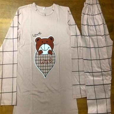 Teddy Bear Printed Night Suit