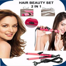 Nova 2 in 1 Hair Beauty Set Curl and Straightener