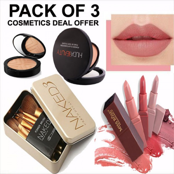 PACK OF 3 COSMETICS DEAL OFFER