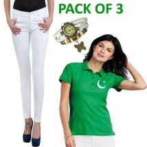 14TH AUGUST DEAL OFFER FOR HER (Pack of Jeans and Tshirt)