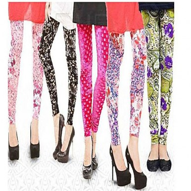 PACK OF 5 PRINTED TIGHTS for Girls