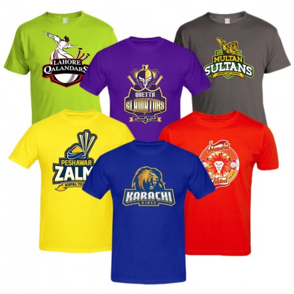 PSL T-SHIRTS PACK OF 6