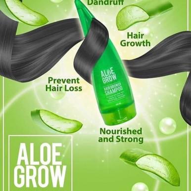 PACK OF 2 LINTA Aloe Grow Shampoo 99% Natural Aloevera Shampoo for Smooth Strong Hair Grow(150 ml)