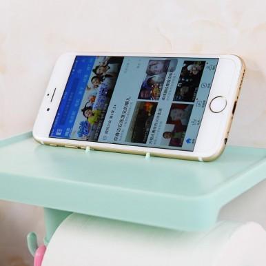 Multifunctional Shelf Toilet Paper Roll Holder Tissue Paper Phone Holder