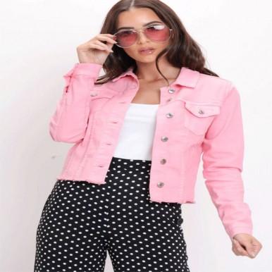 Pastel Pink Denim Jacket