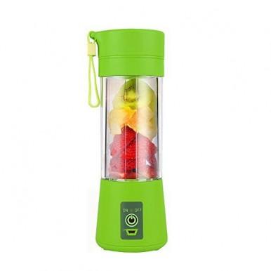Portable USB Rechargeable Electric Juicer Blender Mixer (380 ml Multicolour)