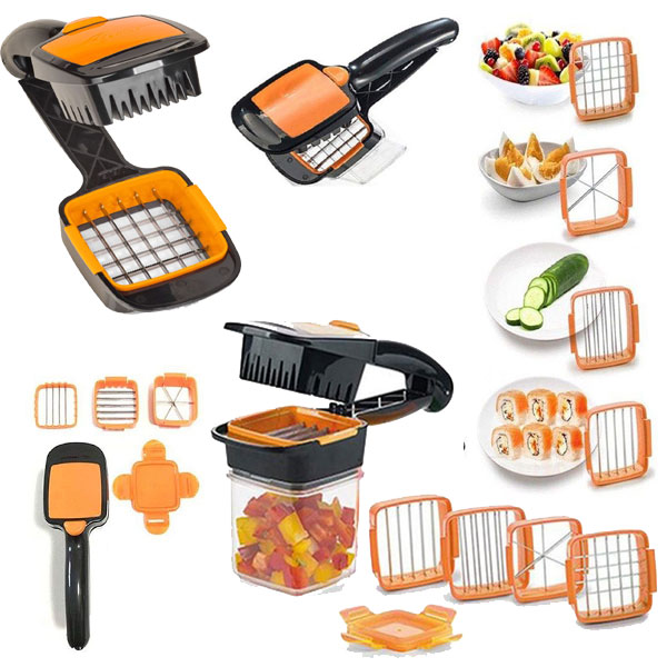 Vegetable Cutter Set and Nicer Quick 5-in-1 Dicer Fruit
