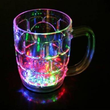 Glass Mug Rainbow Color