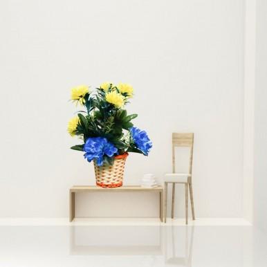 Artificial Reusable Plastic Flowers & Plants Vase