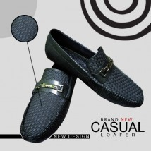 BLACK RUBBER LOAFER