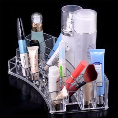 Acrylic Sector Cosmetic Organizer Curve Shape