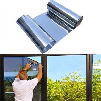Soft Mirror Sticker ,Big Flexible Mirror Sheets Full Body Mirror Self-Adhesive Wall Non Glass Cuttable Plastic Sheet (Silver)