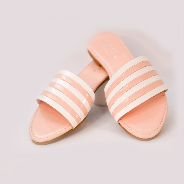 Stylish Baby Pink Slippers For Women's