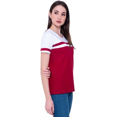 Summer Offer White Maroon T-Shirt And Slim Fit Jeans