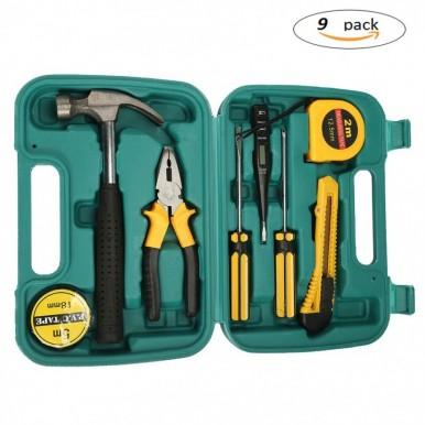 9Pcs Home Repairing Tool Set Kit Multi-functional