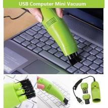 Mini USB Vacuum Laptop Keyboard Cleaner Ergonomic Cleaner for Office Computer And Small Spaces Cleaning with USB Cord and Nozzle Head