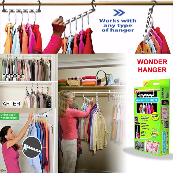 Wonder Hanger - hanging cloths organizer