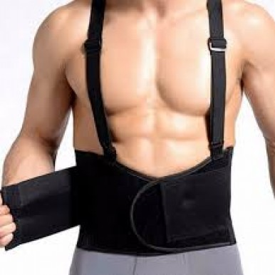 Work Belt Back Support, Helps provide back support when lifting in the workplace One Size Fits Most