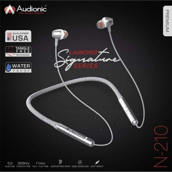 Audionic SIGNATURE N-210 Neckband Wireless Bluetooth Water Resistant