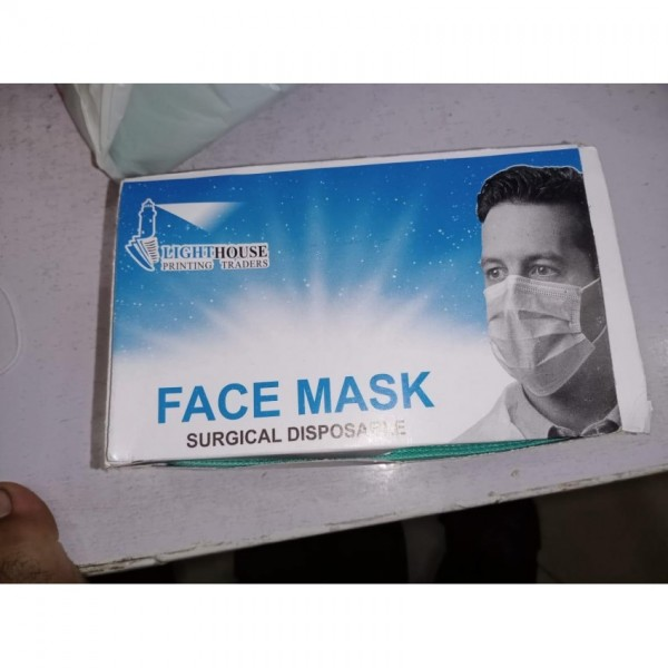 Covid Protection Surgical Face Mask Pack Of 50