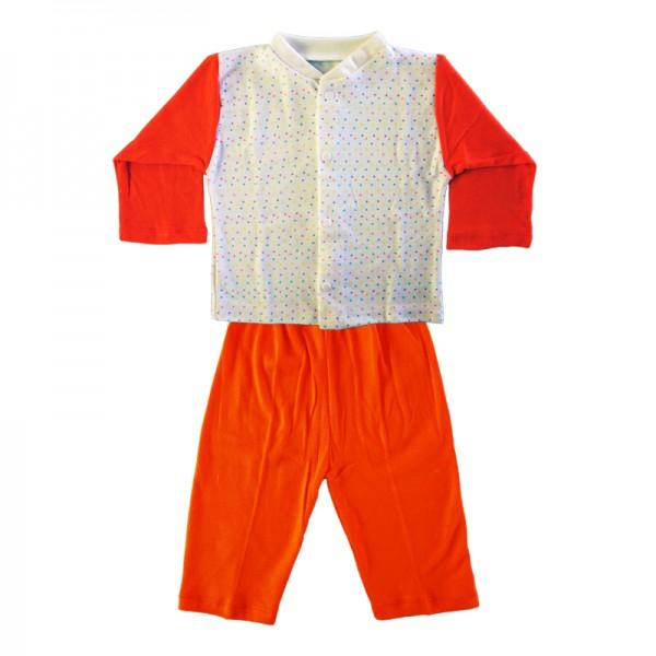 Deluxe Pajama Suit - Orange 12-18 Months