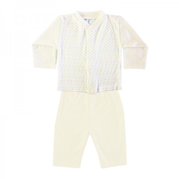 Deluxe Pajama Suit - White 6-12 Months