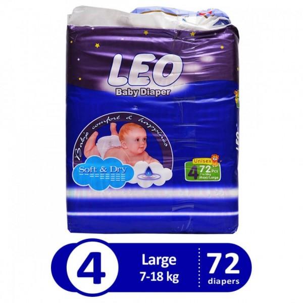Leo blue mega pack large size 4 72pcs LHB7