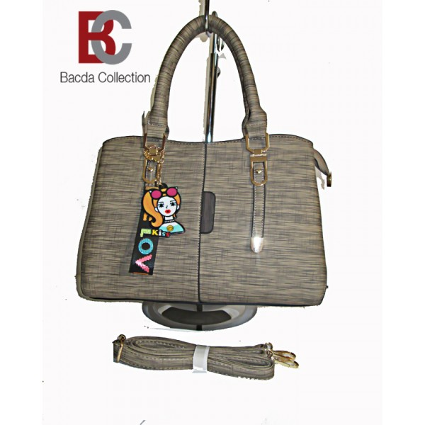 Ladies Hand Bag Tote Style in  Charcoal Colour LHB54