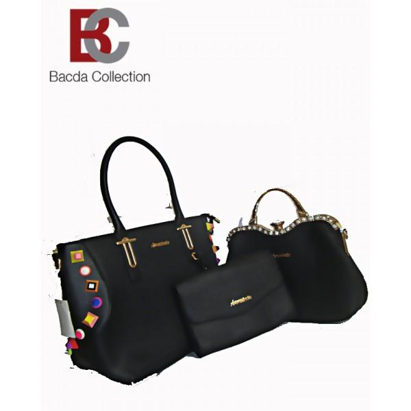 Pack of Three Ladies Hand Bag in Black color LHB65
