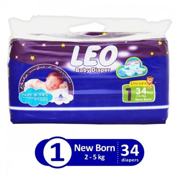 Leo Blue regular New born size 1 34 pcs LHB3