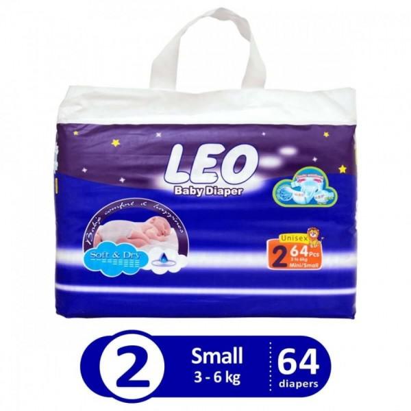 Leo Blue jumbo pack size 2 small 64 pcs LHB1