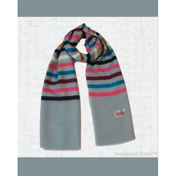 Multicolored-Stripes Stoles in Cyan Color