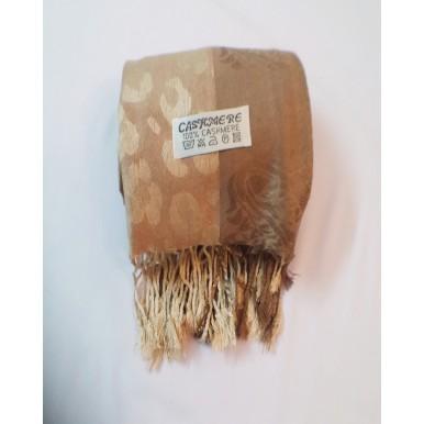 Floral border Cashmere Wrap Shawls (Beige color)