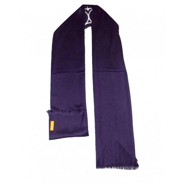 PLAIN SOFT CASHMERE STOLE in Dark Purple Colour