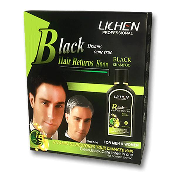 LICHEN Professional Black Hair Shampoo 400ML (200mlx2)