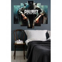 Wall Frames 5 Pieces set Canvas Digitally Printed Wall Canvas Frames - Call of Duty Black OPS
