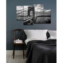 4 Pieces Digitally Printed Wall Frames - BND-4129