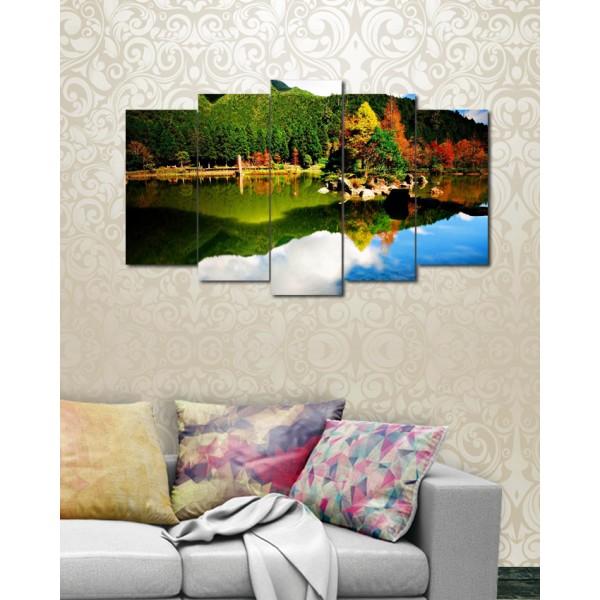 Wall Frames 5 Pieces set Canvas Digitally Printed Wall Canvas Frames